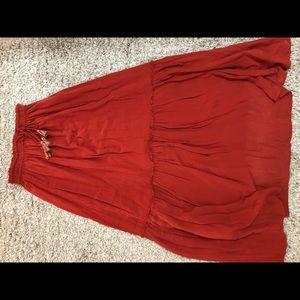 Zara bohemian maxi skirt